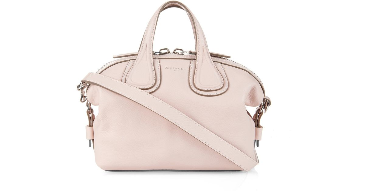 4bab44b88cfc Lyst - Givenchy Nightingale Mini Leather Cross-Body Bag in Pink