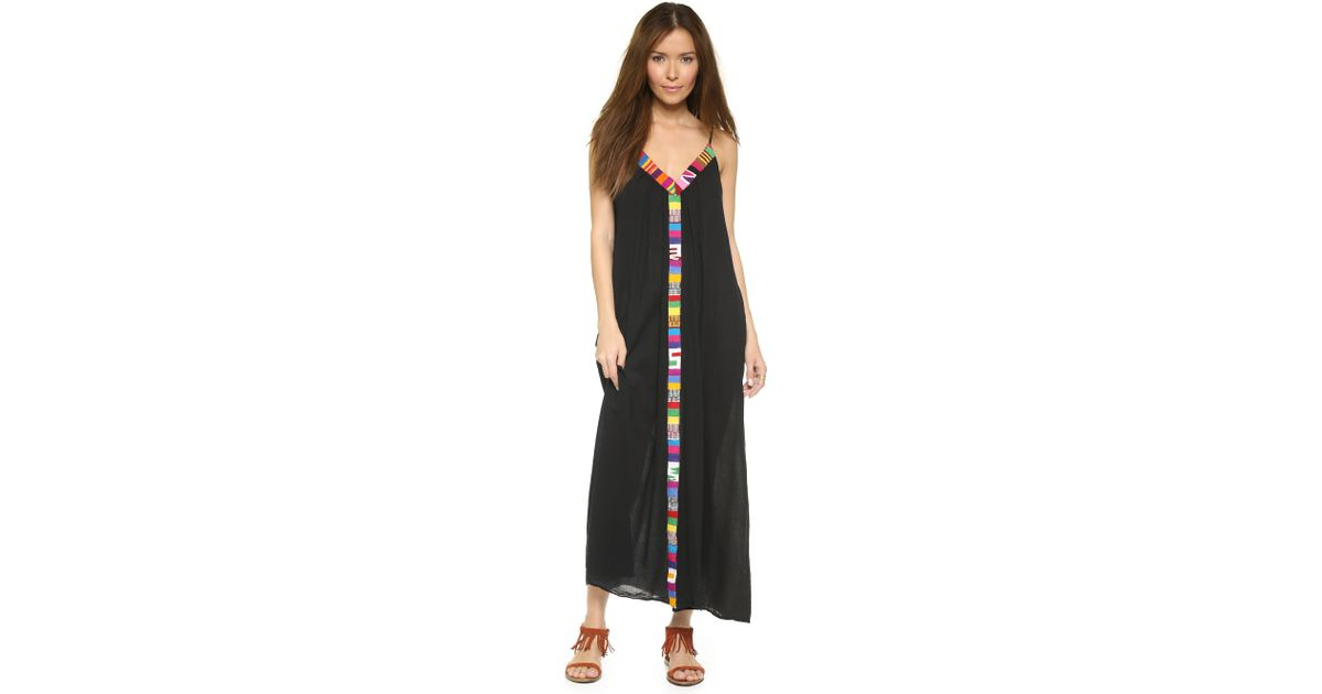 36e276f2ad 9seed Portofino Trim Cover Up Dress - Caribe in Black - Lyst