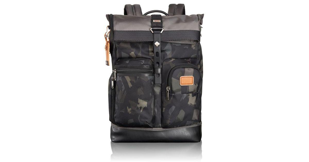 b89b25fe4 Tumi 'alpha Bravo - Luke' Camo Backpack in Gray for Men - Lyst
