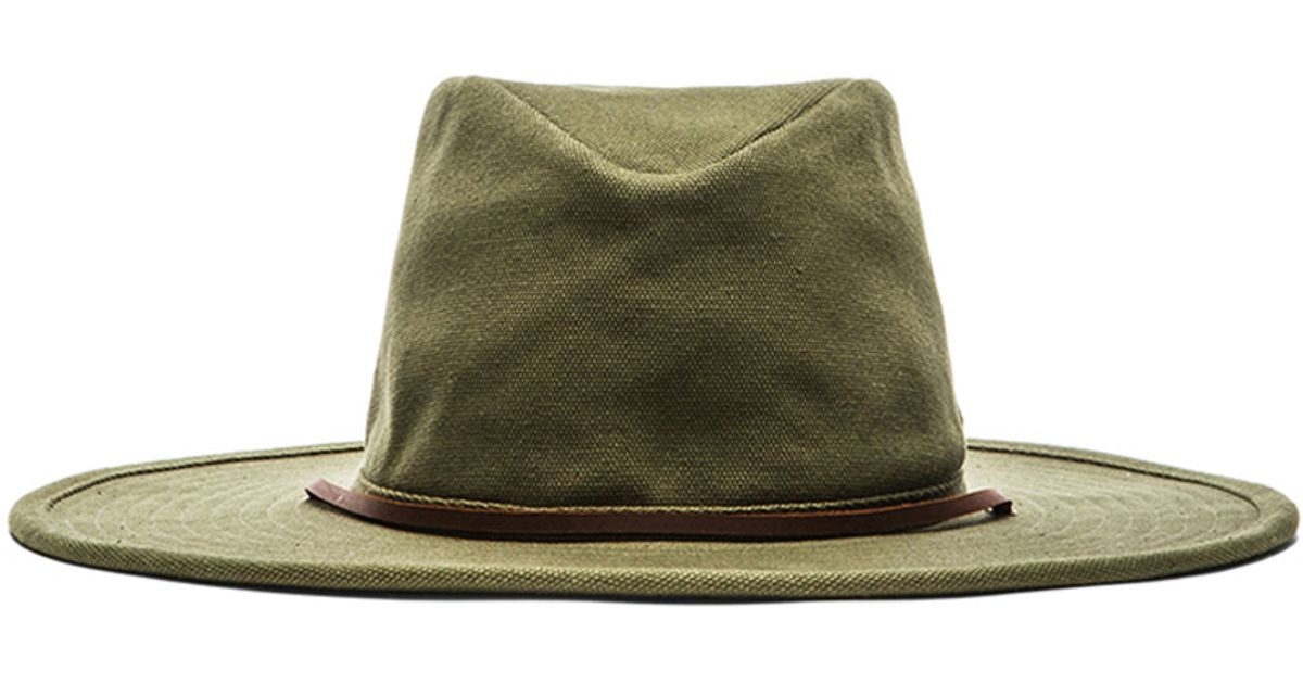 1c09f0823398aa ... shopping lyst brixton ranger hat in green for men eb42d c91bb