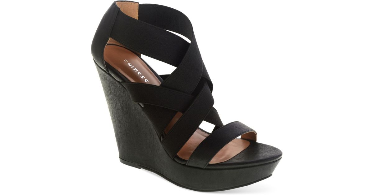 539aa81ac109 Lyst - Chinese Laundry Moonlight Platform Wedge Sandals in Black