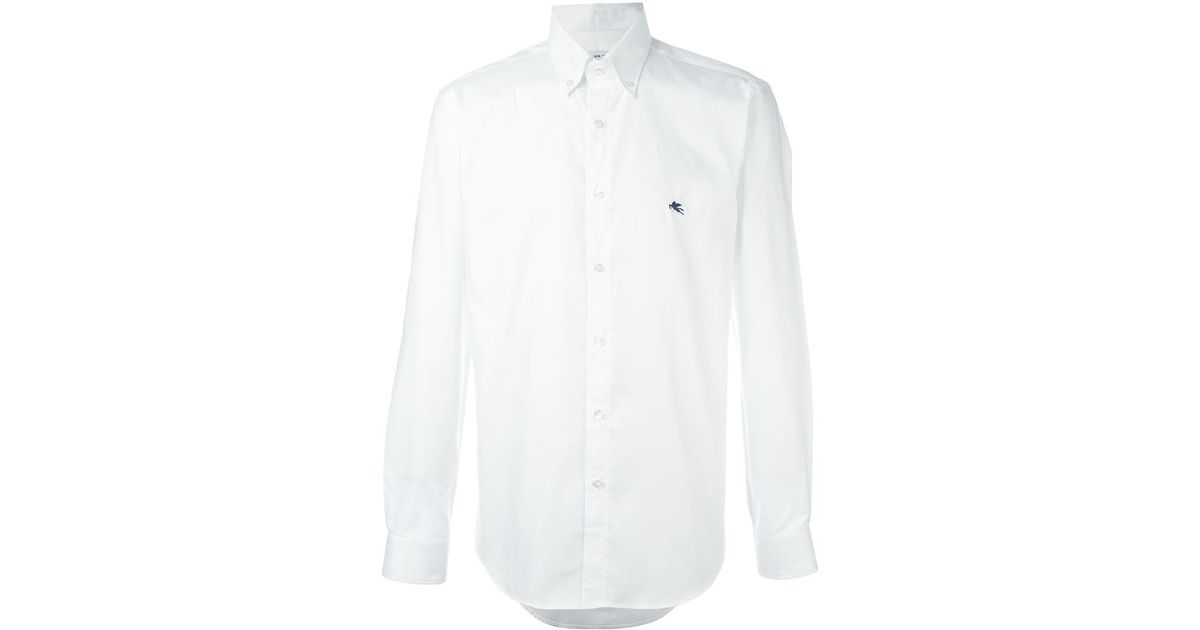 Etro Button Down Collar Shirt In White For Men Save 55