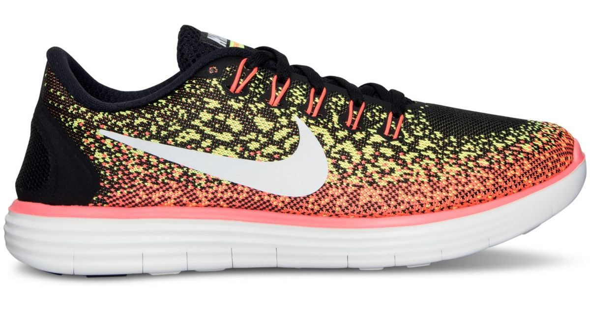 ... more photos a2b79 7f692 Lyst - Nike Women s Free Distance Running  Sneakers From Finish Line ... 55709c00d491