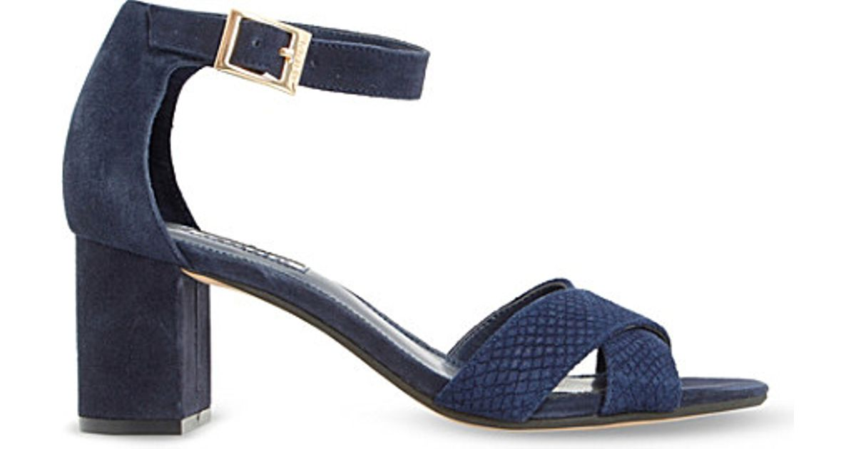 4aa4c2a834e4f Lyst - Dune Imelda Suede Heeled Sandals in Blue