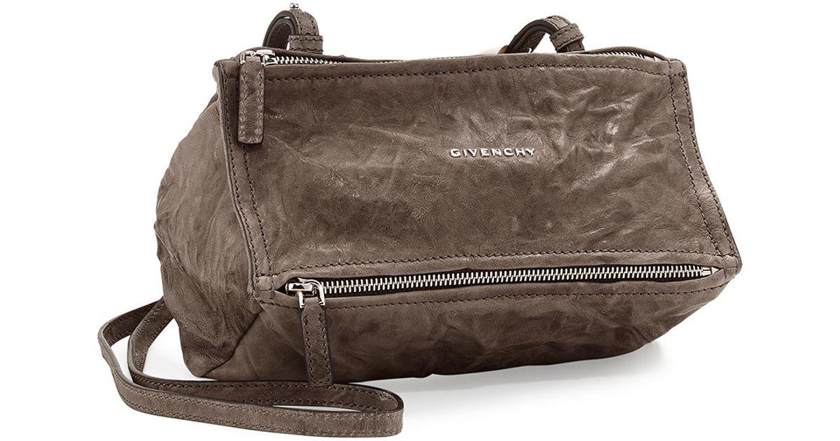 b44f299449d Givenchy Pepe Mini Lambskin Cross-Body Bag in Brown - Lyst
