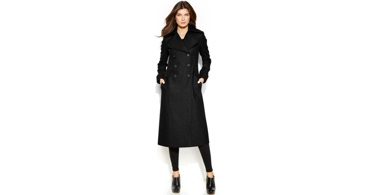 1d2b681757f Lyst - DKNY Woolblend Maxi Walker Coat in Black