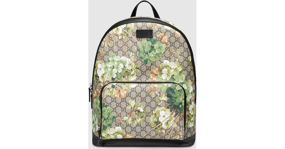 Lyst - Gucci Gg Blooms Backpack in Green for Men 7a10f82aaf13b