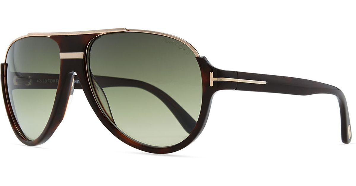 Tom ford Dimitri Rimless Aviator Sunglasses in Brown for ...
