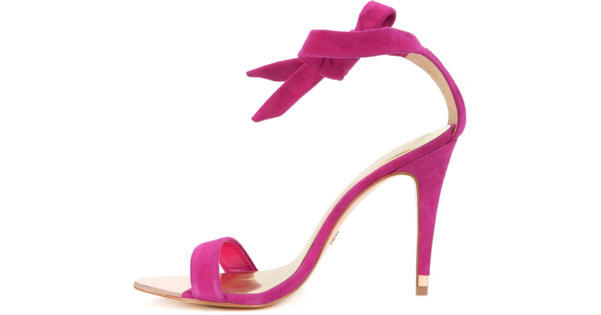 40af744e7 Lyst - Ted Baker Ankle Tie Heels in Pink