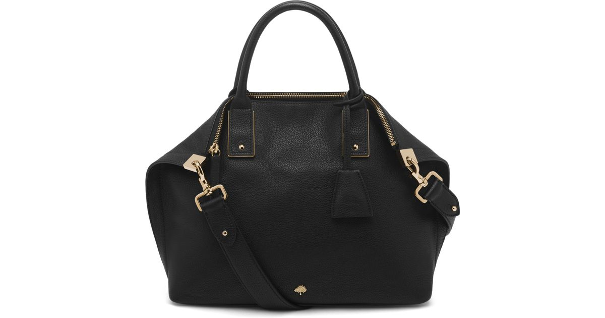 b7f2d78bc9f2 ... closeout mulberry alice small leather shoulder bag in black lyst 9d4e5  1c424