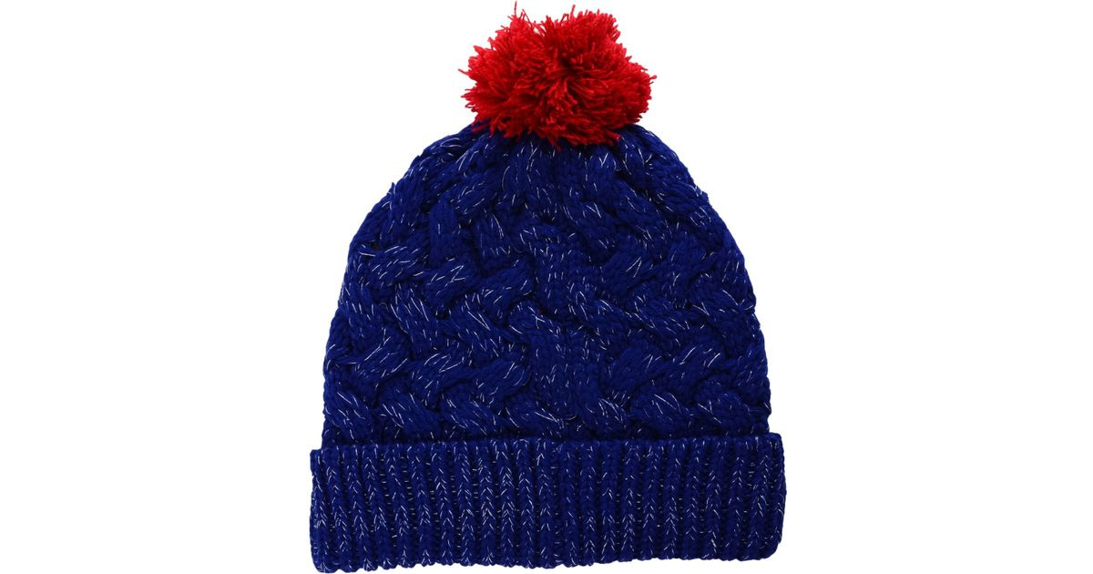 4223c5434bd Lyst - 47 Brand Women s New York Rangers Fiona Pom Knit Hat in Blue for Men