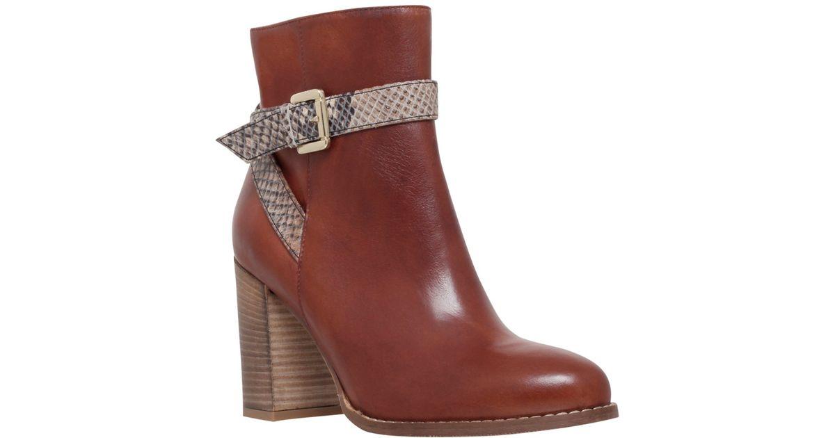 73c056fbe5e Carvela Kurt Geiger - Brown Slip Tan Mid Heel Ankle Boots - Lyst