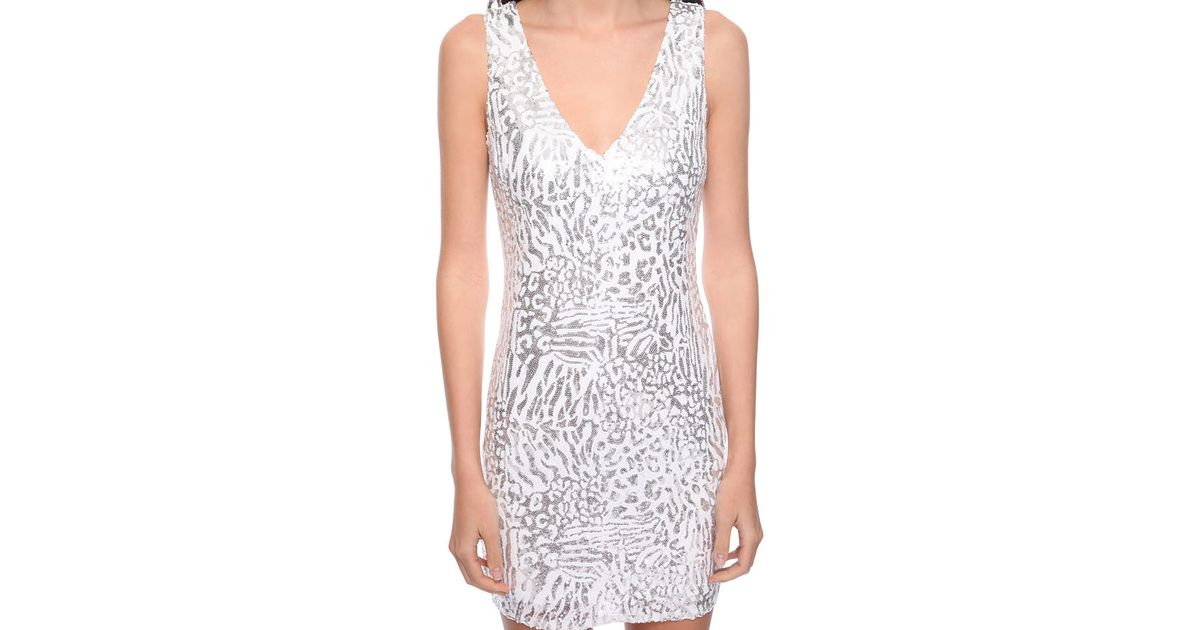 953d6d2842e Forever 21 Abstract Sequin Dress in Metallic - Lyst