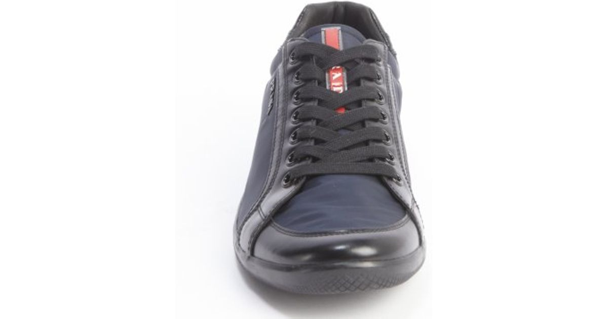 Prada Sport Navy And Black Nylon Lace-up Sneakers in Blue for Men - Lyst b66933ca7