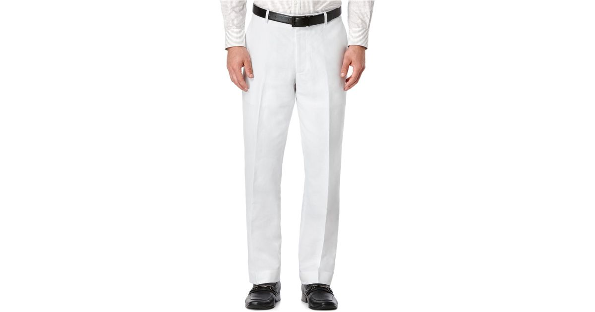 Beautiful Perry Ellis Linen Suit Pants In White For Men Bright White  Lyst