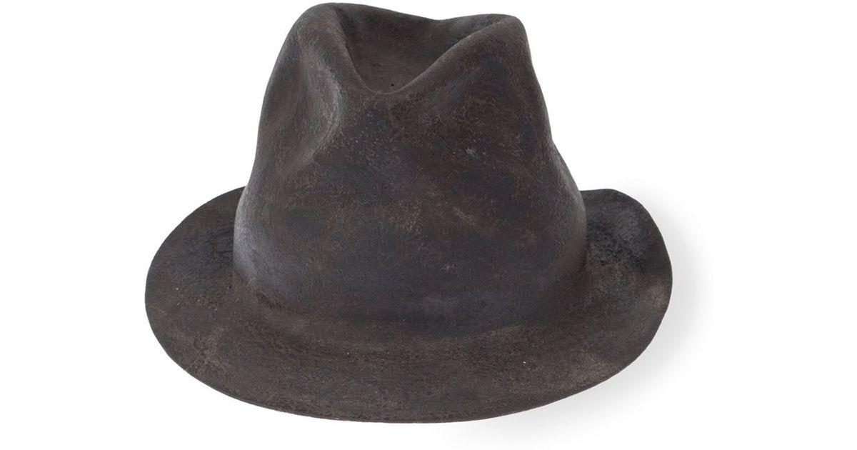 cdd211f8782 Lyst - Horisaki Design   Handel Furry Felt Hat in Gray for Men