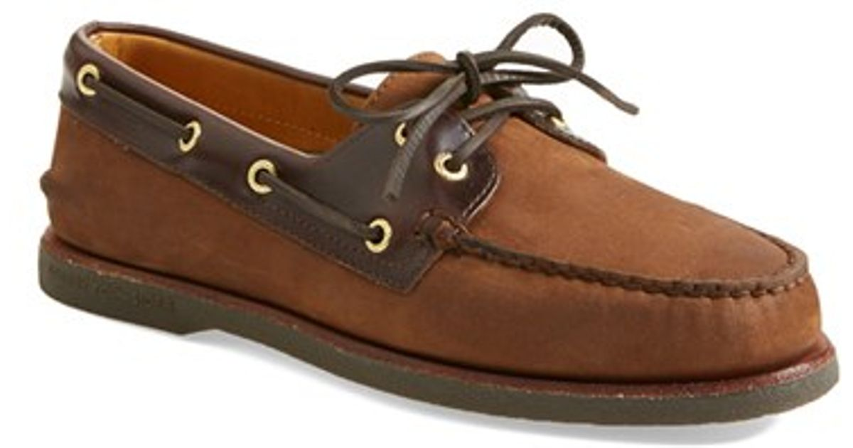 Mens Authentic Boat Shoe Buck Brown