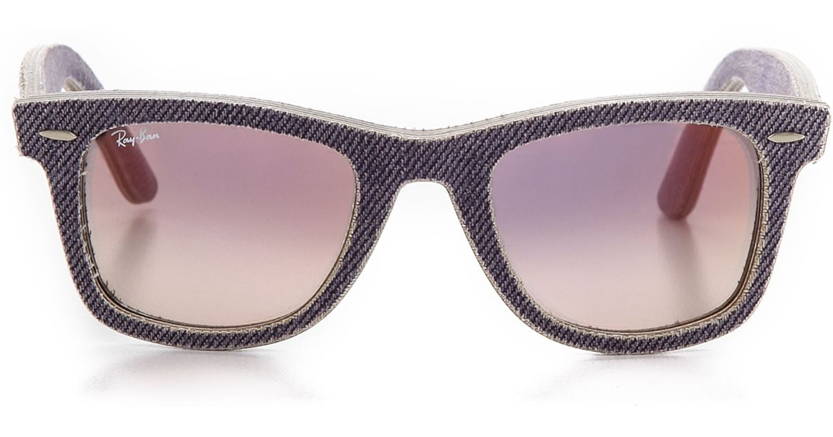 d1d05909a12 Lyst - Ray-Ban Denim Icon Wayfarer Sunglasses - Jean Grey Gradient in Purple