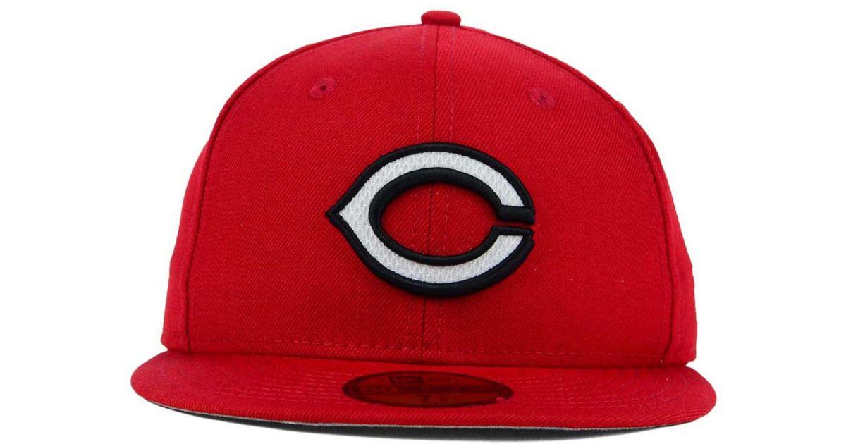 new arrival 0dc22 91606 Lyst - KTZ Cincinnati Reds Logo Lush 59Fifty Cap in Red for Men