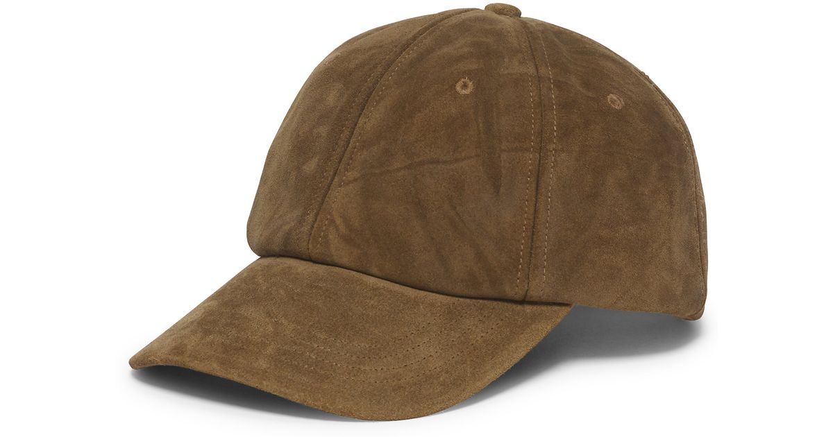 203c2915964 Lyst - Polo Ralph Lauren Suede Hunting Hat in Brown for Men