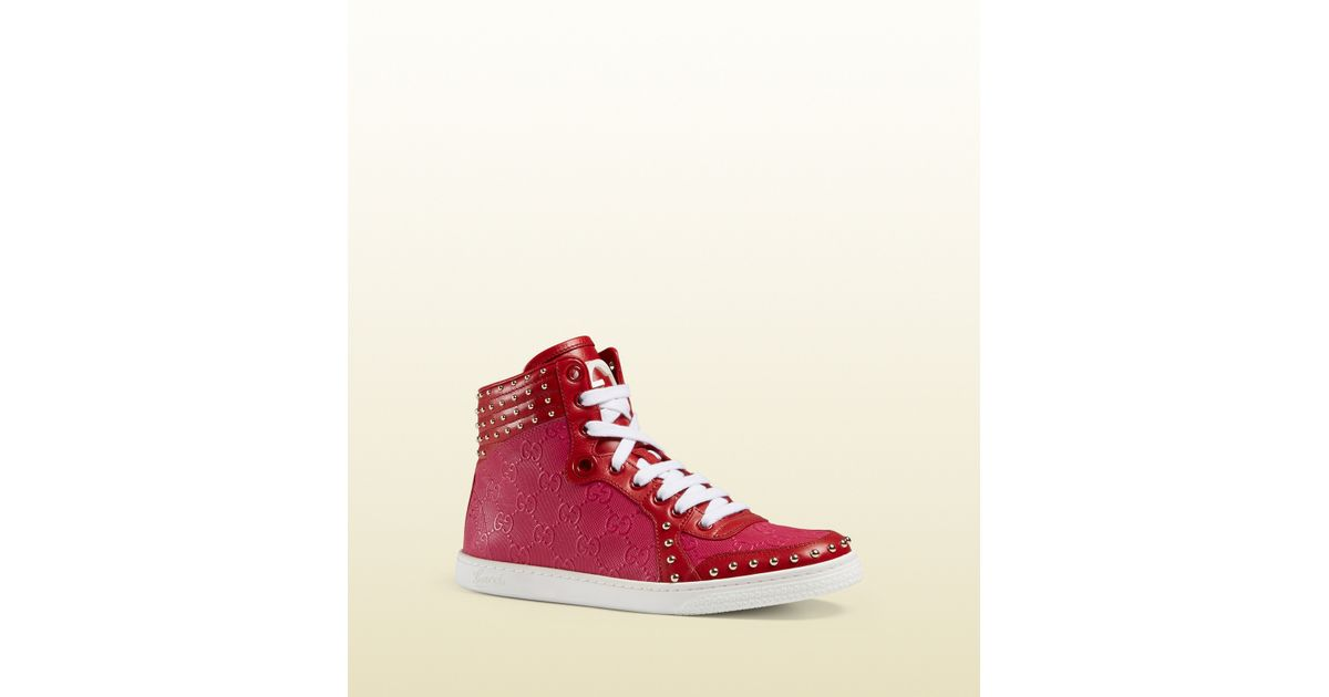 c996ef8cb75 Lyst - Gucci Coda High-top Sneaker in Pink