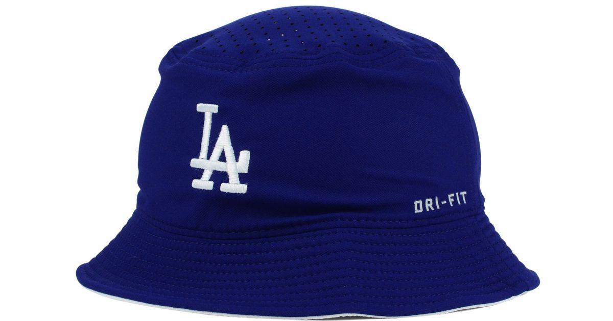 Lyst - Nike Los Angeles Dodgers Vapor Dri-fit Bucket Hat in Blue for Men ad4d5d8f5c6