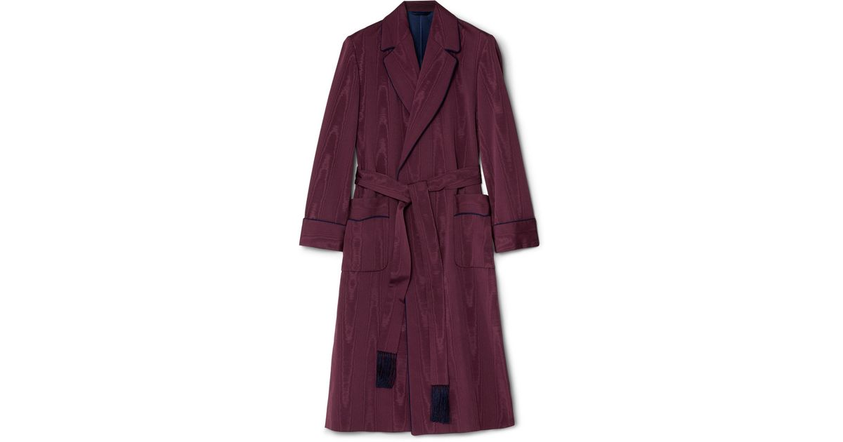 Lyst - Kingsman Moire Dressing Gown in Red for Men