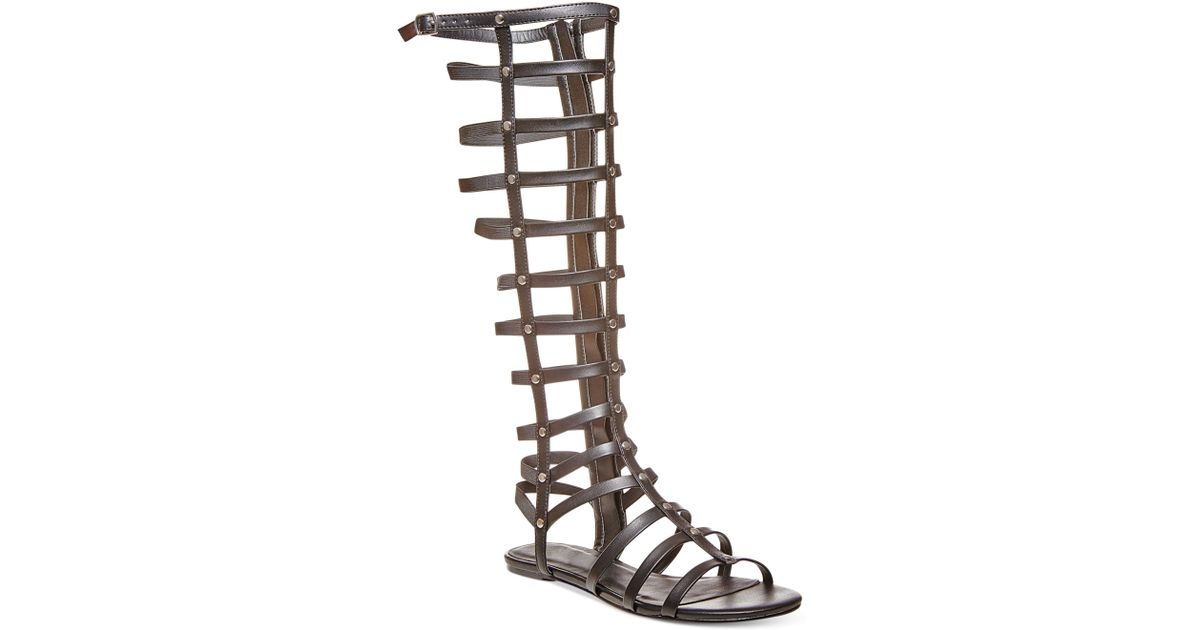 7e720c924234 Lyst - Madden Girl Amily Tall Shaft Gladiator Sandals in Black