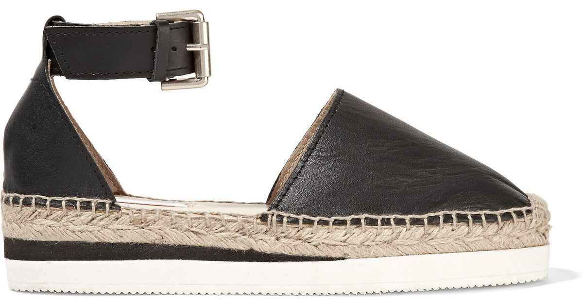 a6fe8c37bed3 Lyst - See By Chloé Glyn Espadrille Wedge Sandals in Black