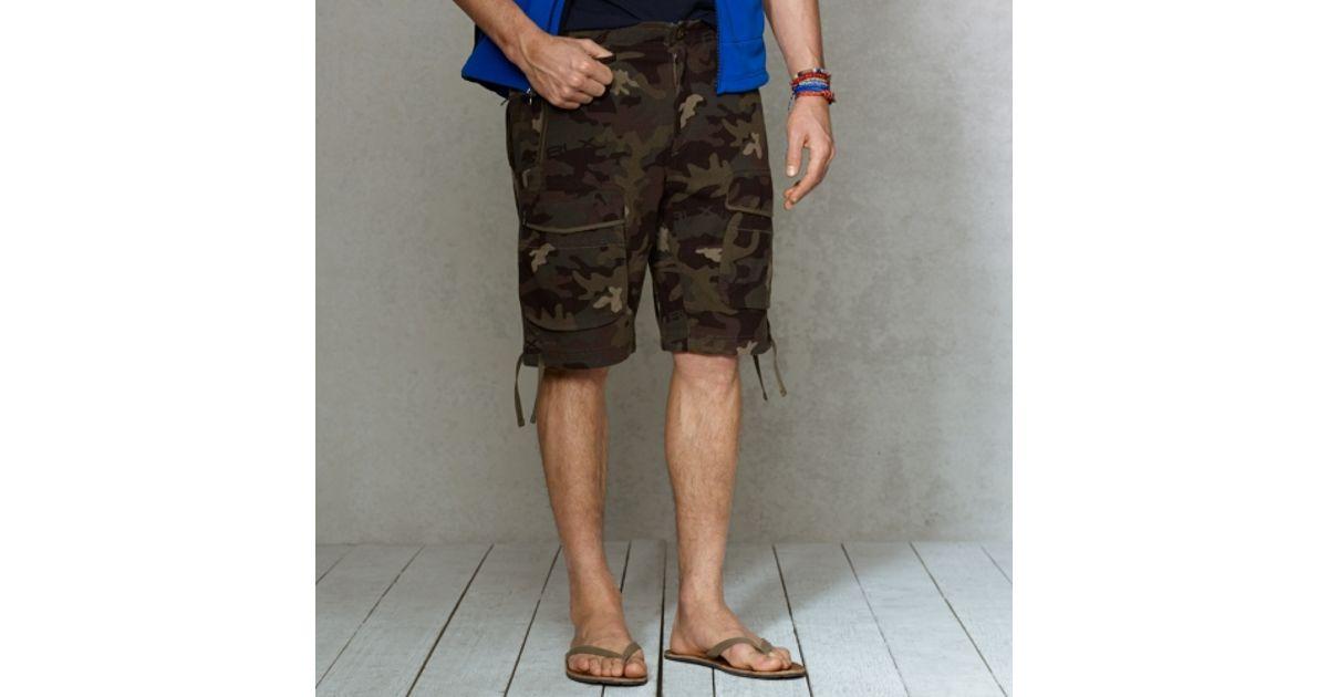 71da869b2af51 Lyst - RLX Ralph Lauren Camo Jersey Cargo Short in Black for Men