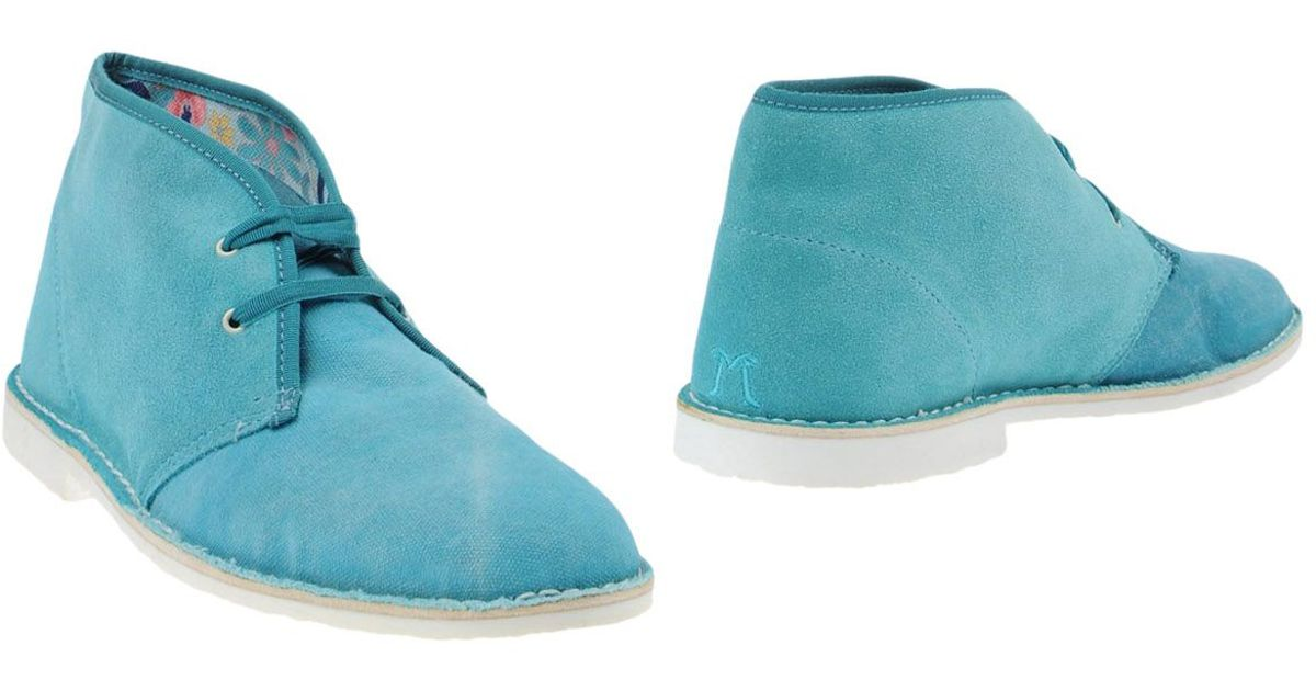 dimattia ankle boots in blue for turquoise lyst