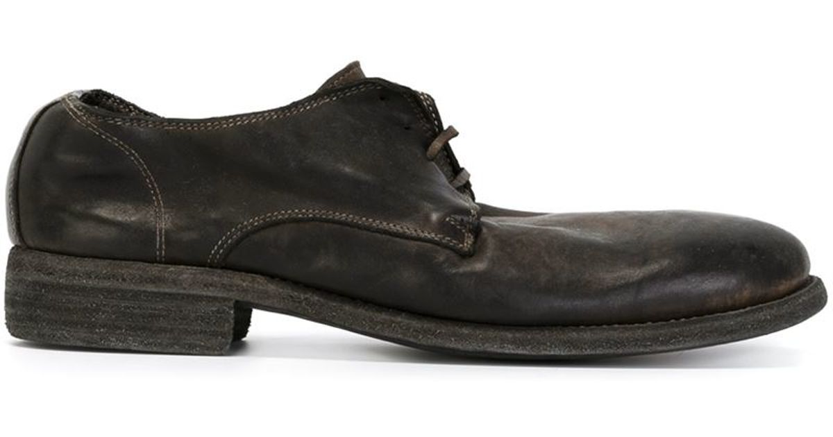 Guidi distressed lace-up shoes deals cheap price 88UDV9x
