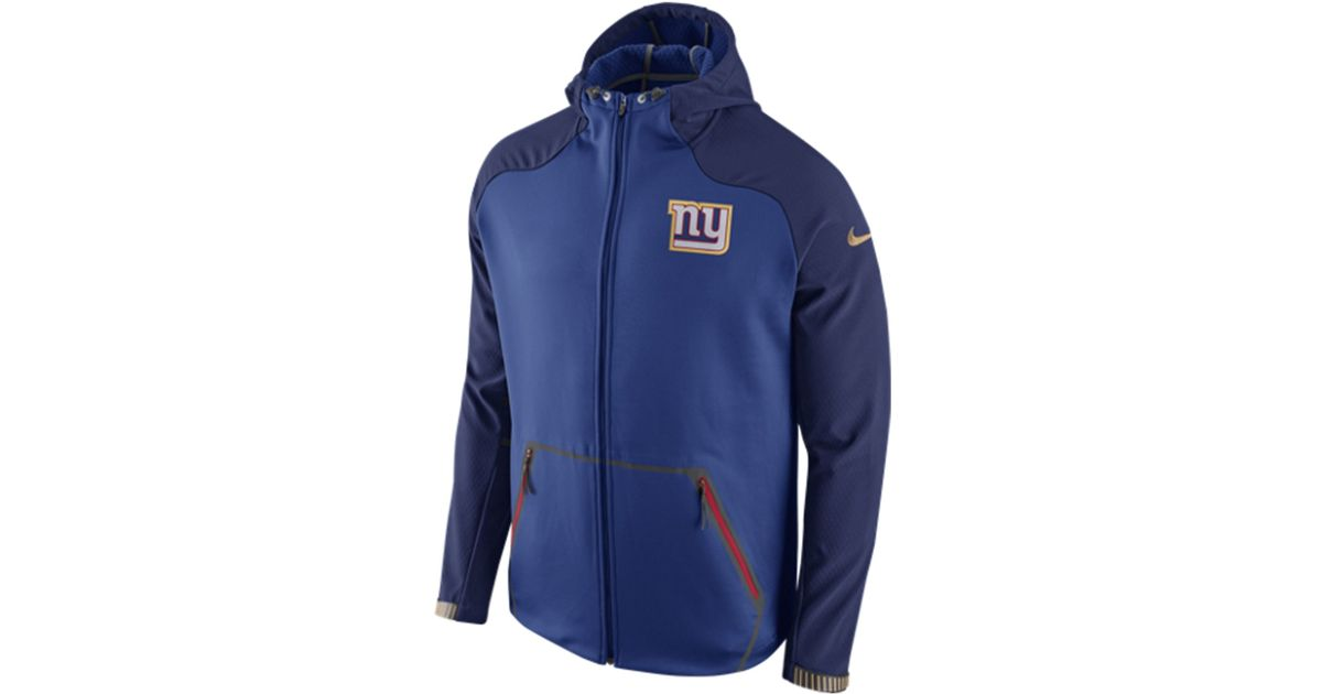 e1c58a9092d Lyst - Nike Men s New York Giants Champ Drive Hyperspeed Sphere Jacket in  Blue for Men