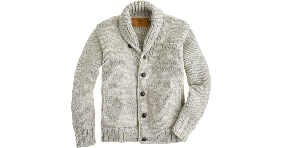 Lyst J Crew Canadian Sweater Company Cowichan Cardigan