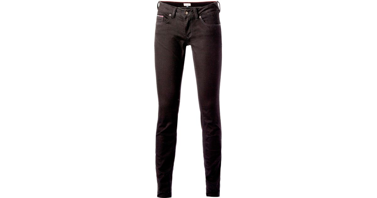 tommy hilfiger sophie skinny jeans in black lyst. Black Bedroom Furniture Sets. Home Design Ideas