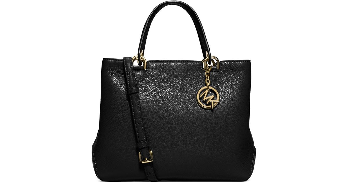 49f4285961e4 MICHAEL Michael Kors Anabelle Medium Top-zip Leather Tote Bag in Black -  Lyst