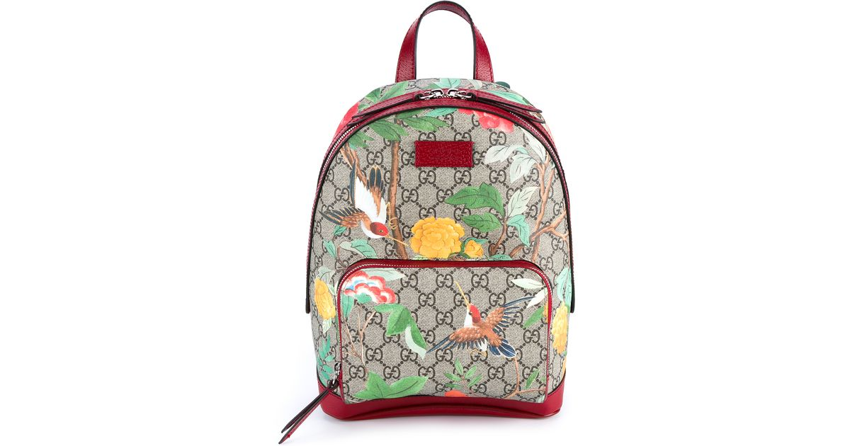 a75ec739657d01 Gucci Tian Garden Canvas Backpack in Pink - Lyst