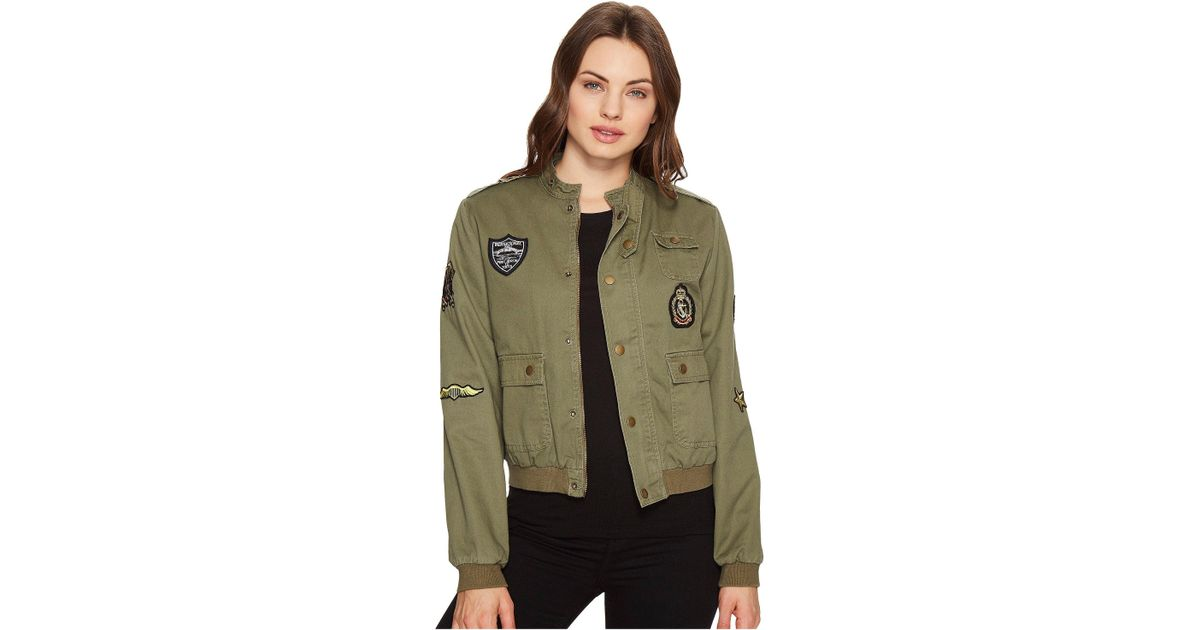 5c8ba28635 Lyst - Romeo and Juliet Couture Button Up Jacket With Patches in Green