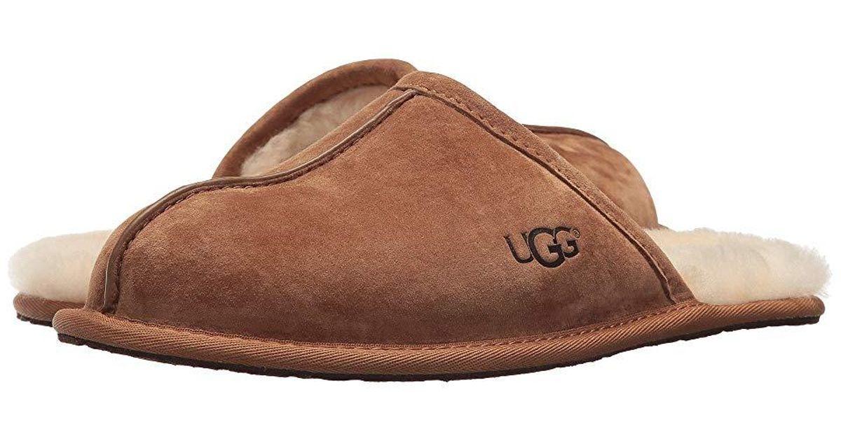 fece9cca19d Ugg - Brown Scuff (chestnut) Slippers for Men - Lyst