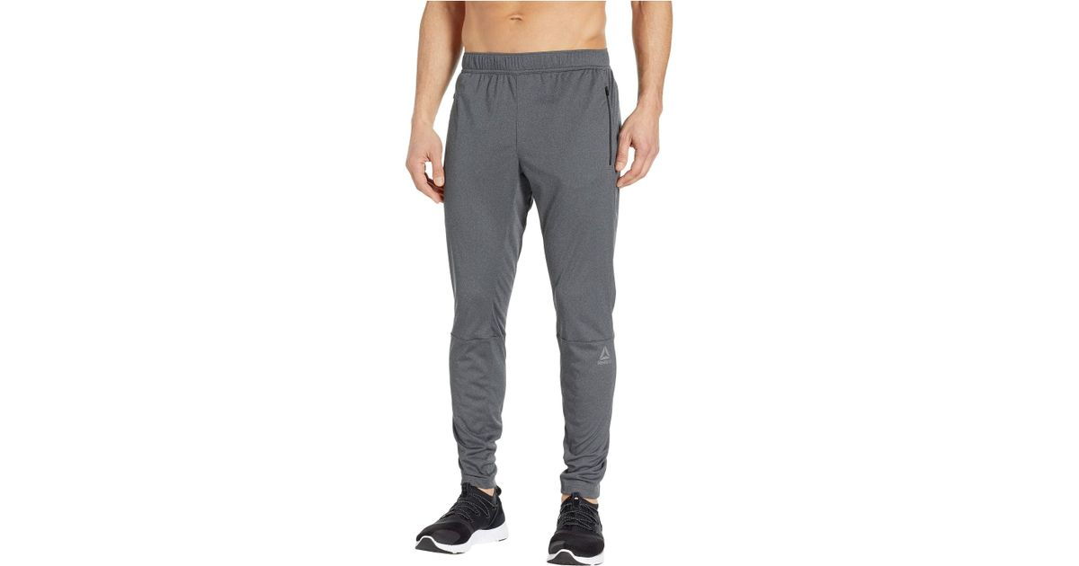 c98b37ce2e302 Lyst - Reebok Speedwick Knit Trackster in Gray for Men