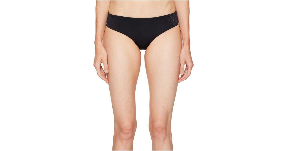 lyst - versace slip mare bikini bottom in black