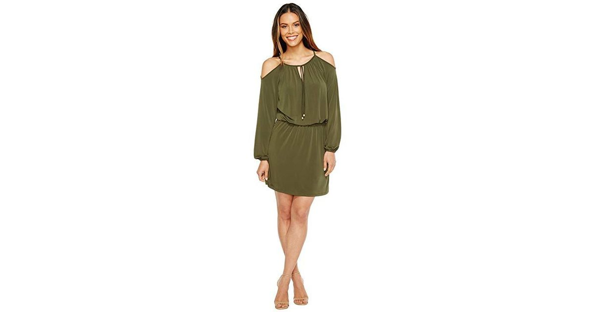 213df75dbfae MICHAEL Michael Kors Matte Jersey Cold Shoulder Dress (ivy) Dress in  Natural - Lyst
