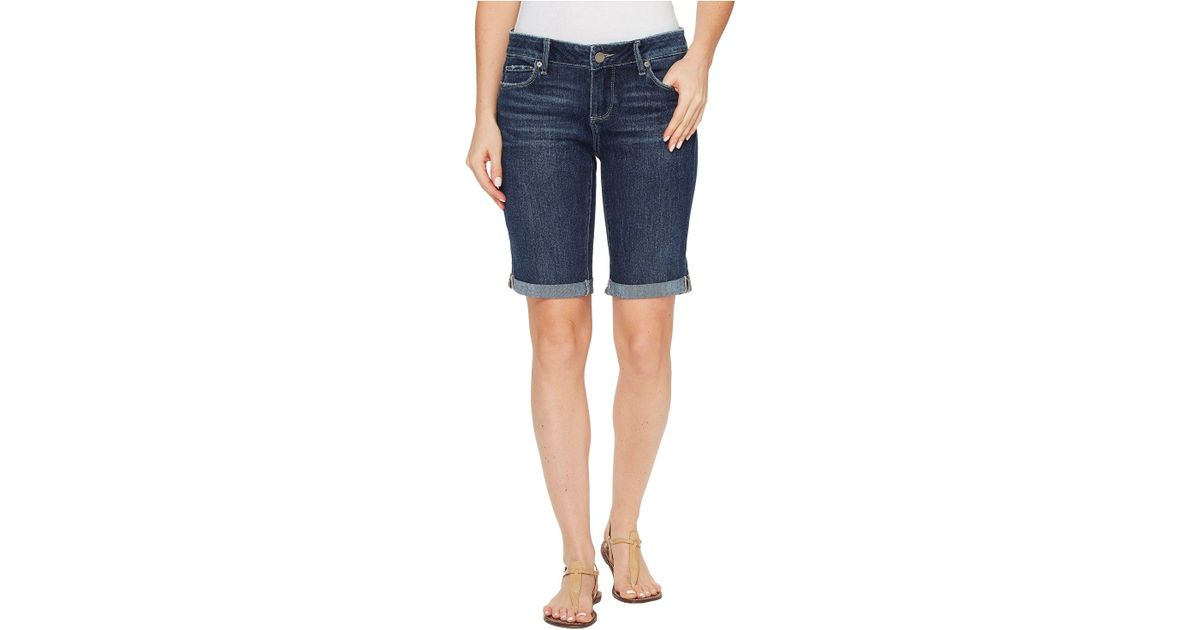 b225607270a97 PAIGE Jax Knee Shorts In Marquis (marquis) Shorts in Blue - Save 34% - Lyst