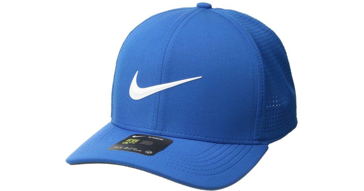 ec6898a33 Nike Aerobill Clc99 Cap Perf (blue Nebula/anthracite/white) Caps