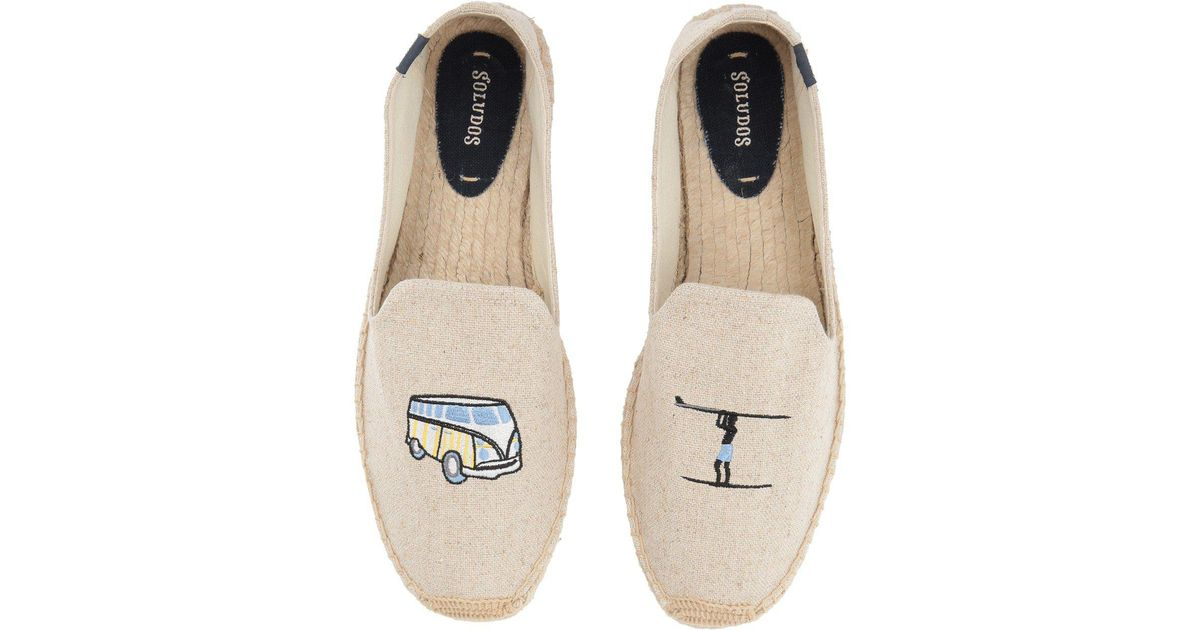 c1c9ae79020b Lyst - Soludos Surf Van Smoking Slipper In Sand in Natural for Men