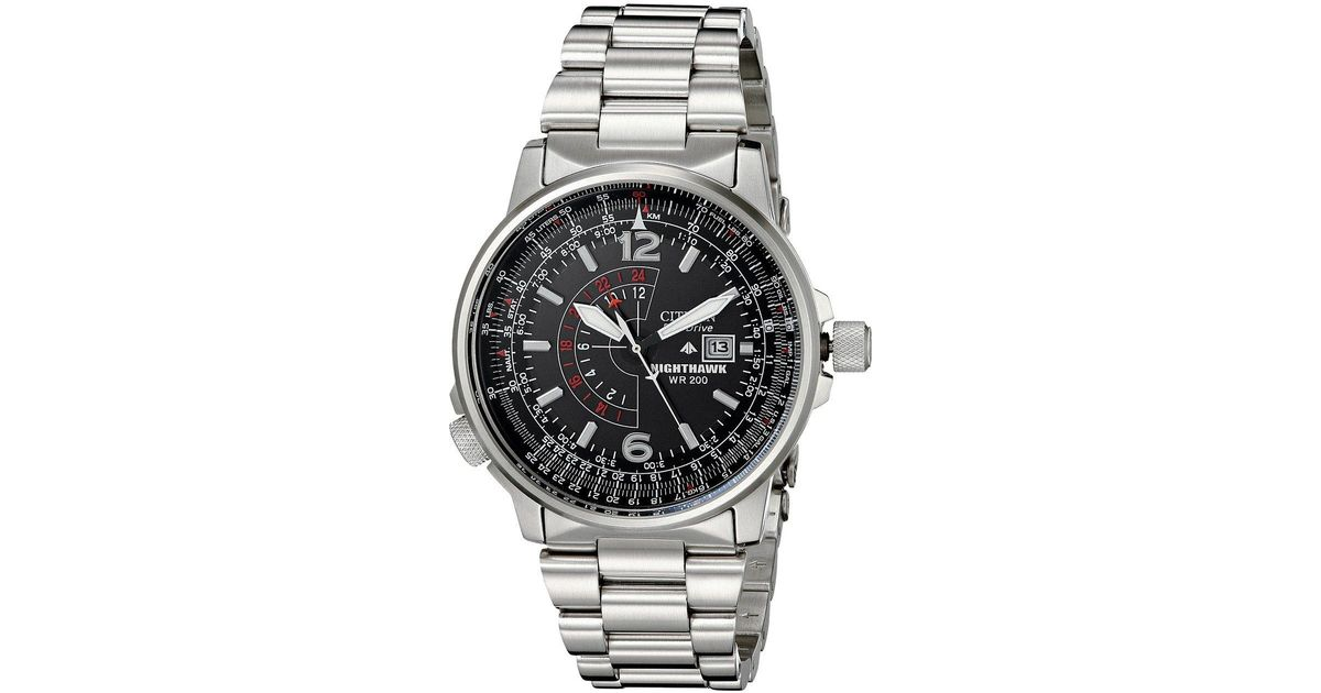 d0a8cb98adc Citizen Bj7000-52e Eco-drive Nighthawk Stainless Steel Watch in Metallic  for Men - Lyst