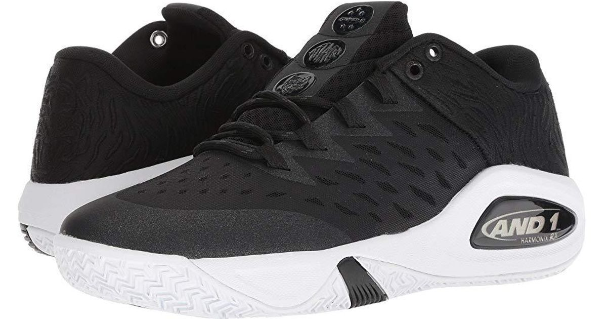 AND1 - Attack Low (black/black/white) Basketball Shoes for Men - Lyst