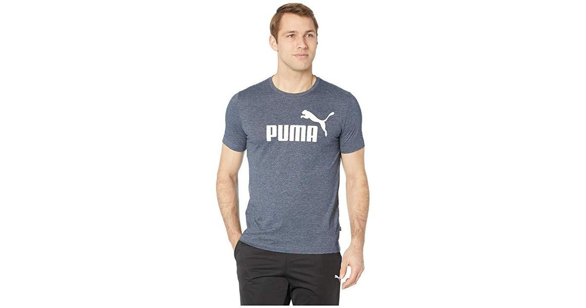 PUMA Gray Ess Heather Tee (peacoat Heather) T Shirt for Men Lyst