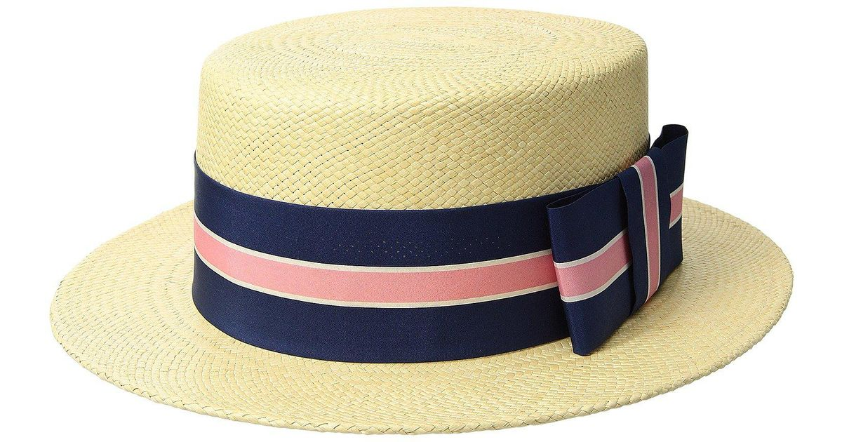aaef280d Vineyard Vines Kentucky Derby Boater Straw Hat in Natural for Men - Lyst
