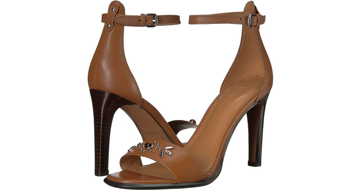 edaf1d71f Lyst - COACH Womens Indi Open Toe Casual Ankle Strap Sandals in Brown